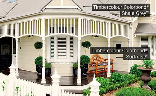 Timbercolour Colorbond Surfmist
